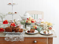 A buffet for a tea party