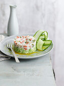 Crab and avocado salad with lime and ginger dressing