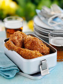 Baked chicken in a lunch box