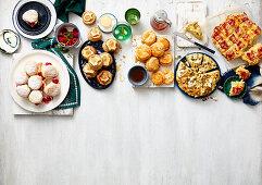 Cranberry and White Chocolate Scones; Lemon Tea Cake Scones; Lamington Scones; Malted Caramel Scones; Cherry and Orange Scones