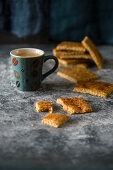 Biscuits with coffee