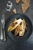 Chicory with raisins and balsamic vinegar
