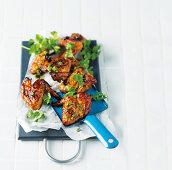 Marinated chicken wings (orange, honey and ginger marinade)