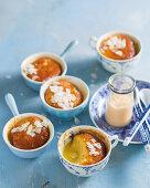 Gluten free malva puddings in cups