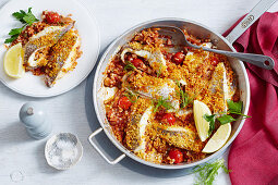 Roasted Fish with Harissa and Couscous