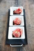 Sashimi with soy sauce