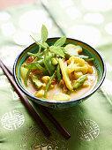 Asparagus curry with cauliflower