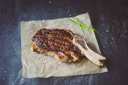 Grilled prime rib steak