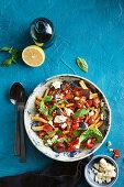 Casarecce with eggplant and chili