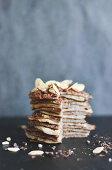 Vanilla and chocolate Pancakes