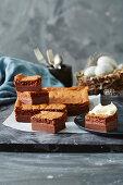 Creamy chocolate squares