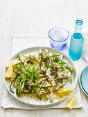 Lemon and Herb Fish with Quinoa Salad