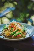 Papaya salad with vegetables