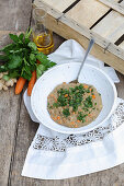 Spelt porridge with carrots and powder (five-element-cooking)