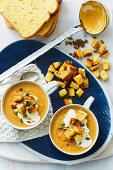 Cream of pumpkin soup with garam masala (slow cooking)