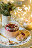 Duck Parfait with cherry and Kirsch