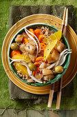 A cod and quinoa poke bowl