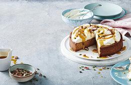 Sticky date cheesecake