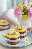 Mini fruit cakes with marzipan