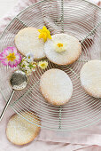 Easter butter biscuits with icing sugar