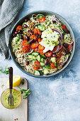 Greek noodle salad with feta