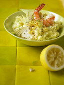 Lemon risotto with prawns and fennel