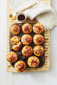Spiced sweet potato and maple bacon muffins