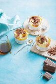 Four ingredient upside-down golden syrup cheesecakes