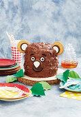 Grizzly chocolate bear cake