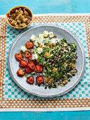 Fattoush-Salat mit Feta