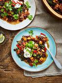 Mixed chilli bean casserole