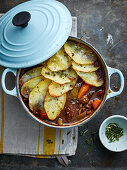 Beef stew with potato slices
