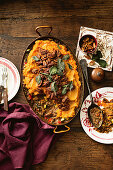 Sweet potato and maple pecan spiced cottage pie