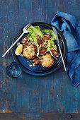 Mediterranean mackerel and potato patties