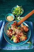 Sticky Korean fried chicken