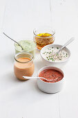 Five dressings for salad