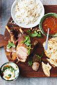 Slow cooker pakistani roast lamb