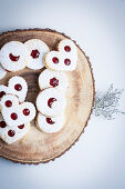 Linzer Cookies filled with Red Currant Jelly
