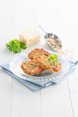 Oat and cheese fritters with parsley