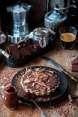 Small chocolate tart