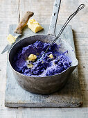 Blue potato mash