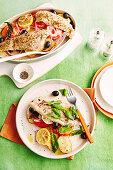 Italian-style baked fish
