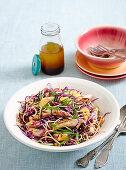 Fried Noodles Salat mit Pute und Rotkohl