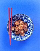 Tofu teriyaki with mirin