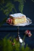 Cake with pudding cream