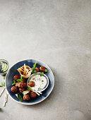 Tandoori lamb meatballs with minted yoghurt