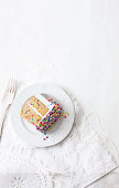 Funfetti cake with marshmallow frosting