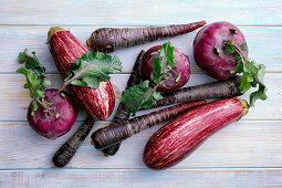 Violettes Gemüse
