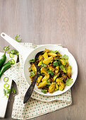 Spicy coconut and chilli Brussels sprouts