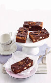 Double choc-crunch brownies